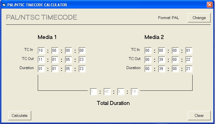 Calculate duration between two dates